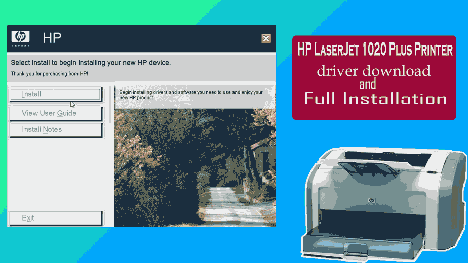 HP LaserJet 1020 Plus Printer driver download and installation step by step