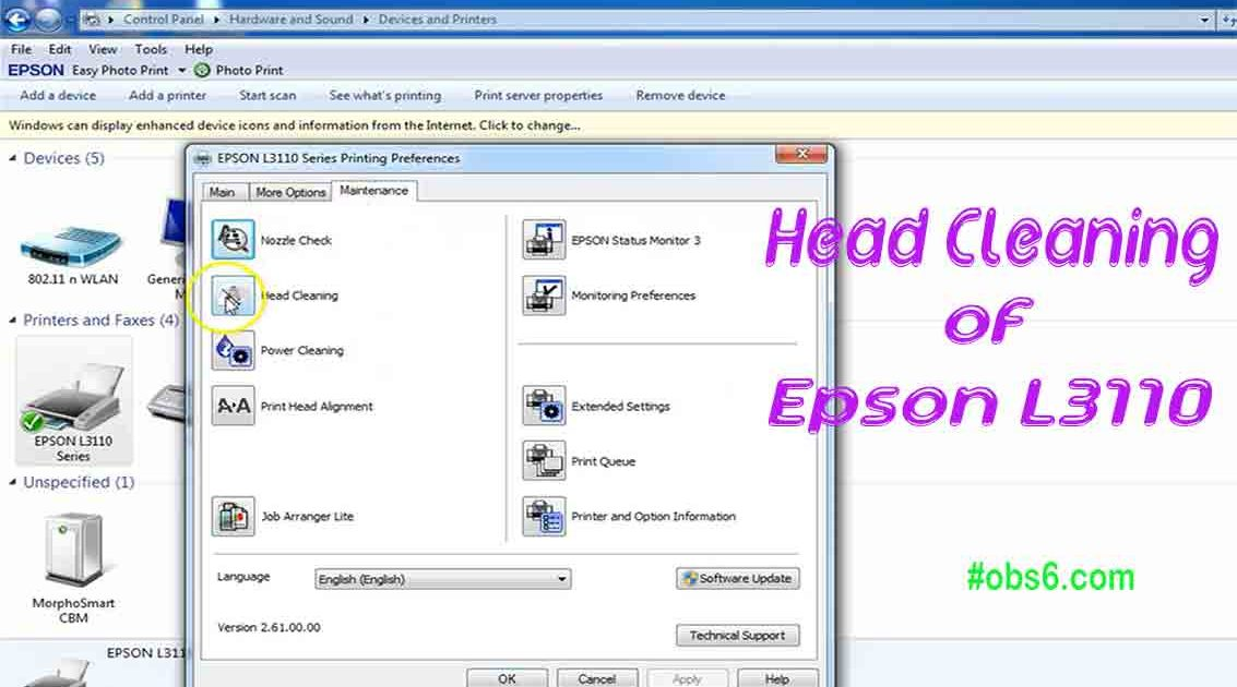 Head Cleaning of Epson L3110 Multifunction InkTank Printer – OBS6 com