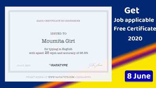 How to get a free verified certificate on typing course?