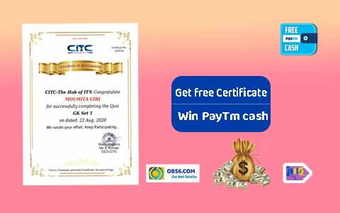 Get free quiz and certificate from CITC and win the prize