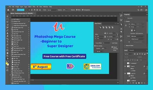 Photoshop Mega Course -Beginner to Super Designer
