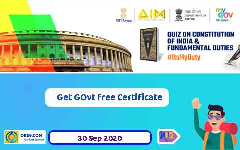 Quiz on Constitution of India and Fundamental Duties